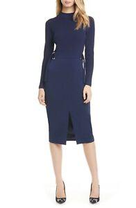 Ted-Baker-London-Ellhad-Mock-Neck-Belted-Dress-sz-5-US-14