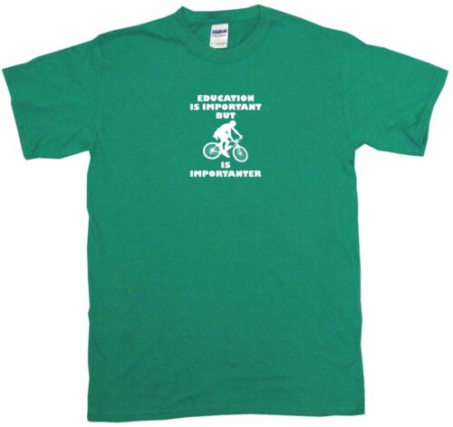 Education is Important But Mountain Bike is Importanter Kids Tee Shirt 2T-XL