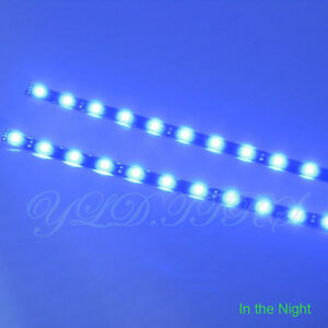 2x blue 12 leds 30cm 5050 smd led strip light flexible waterproof image is loading 2x blue 12 leds 30cm 5050 smd led aloadofball Gallery