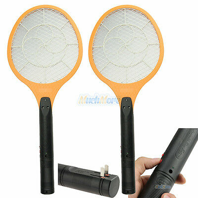 2x Cordless Rechargeable Bug Zapper Mosquito Insect Electric Fly Swatter Racket