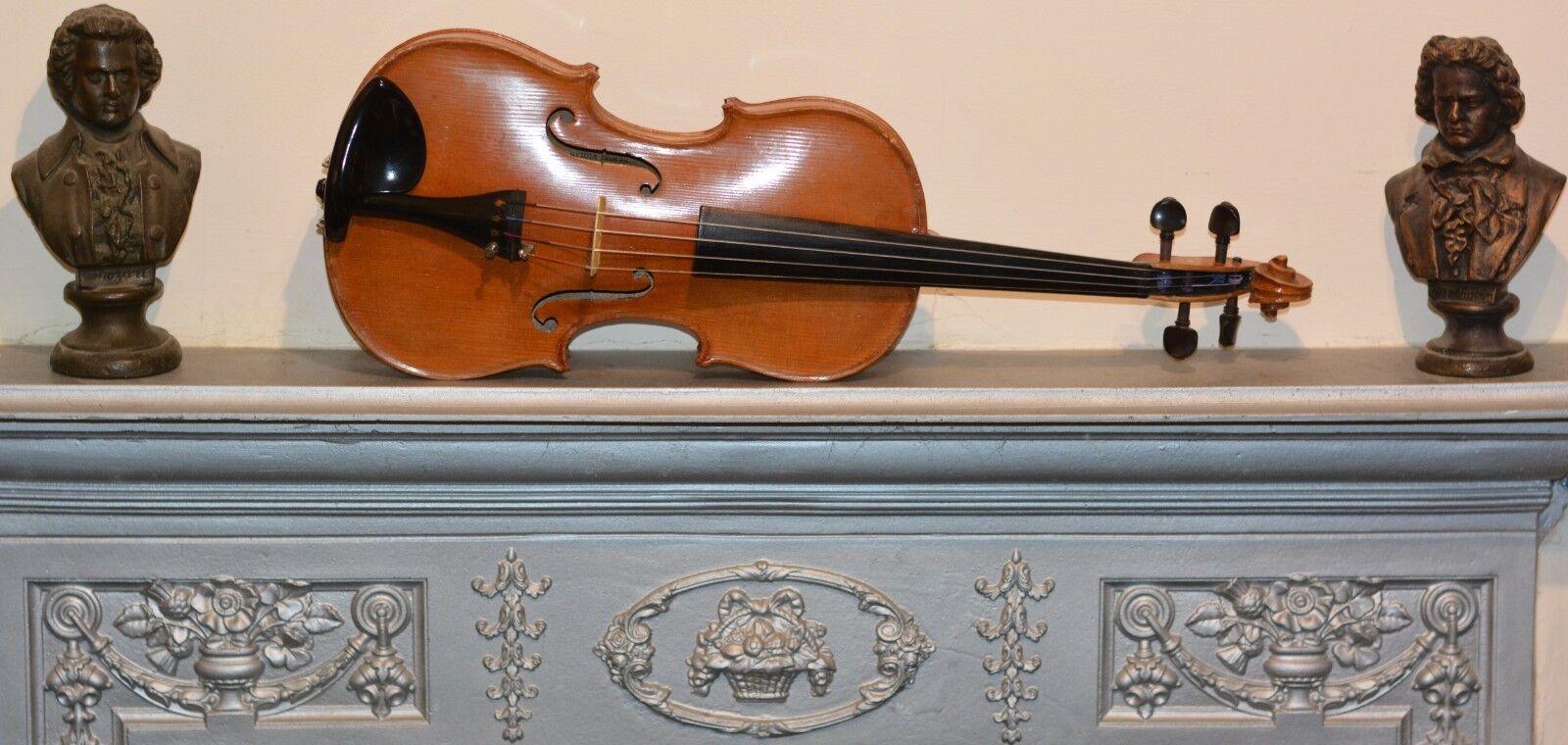 Vintage 4/4 violin by Marcus Berini + 925 bow + Case