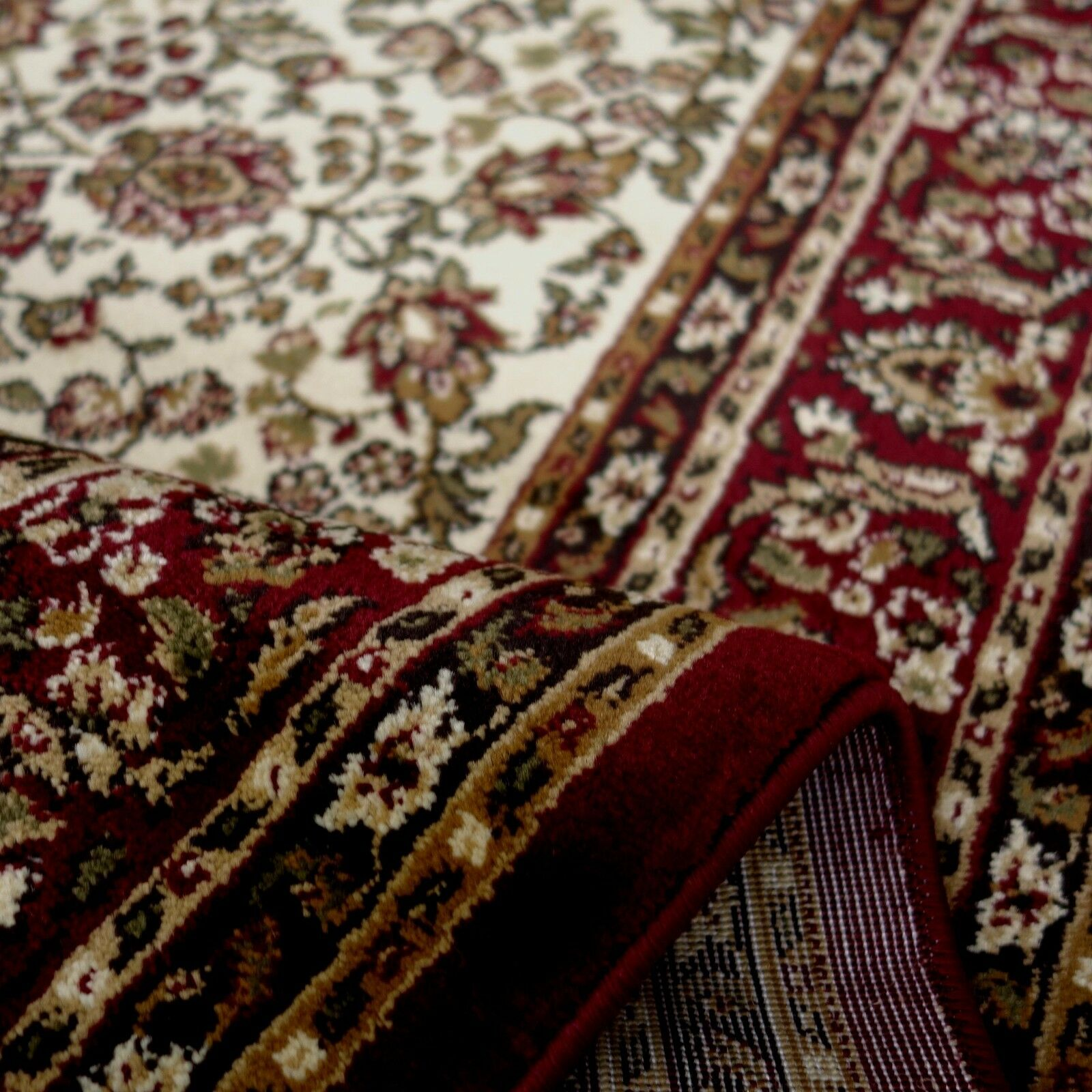 Teppich  KESHAN KESHAN KESHAN SUPER  Allover Orient Muster Klassiker in guter Qualität a9c97d