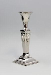 9977222 Kerzen Leuchter Historismus Metall vernickelt 1-flammig H20cm