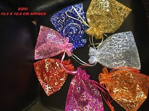 10-25-50-Organza-gift-Wedding-Favour-Pouches-Jewellery-Mesh-Party-Drawstrin-Bags