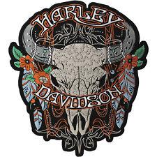 "Harley-Davidson Aufnäher/Emblem ""STUDDED STEER"" Patch Ochsenkopf *EM204307* groß"