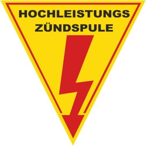 JDM Hochleistungs Zündspule Aufkleber Sticker NEU