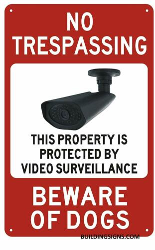 White,9X14 NO TRESPASSING This Property is Protected by Video ...