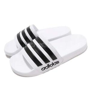 31eff05fa614 Image is loading adidas-Adilette-Shower-White-Black-Men-Sports-Sandals-