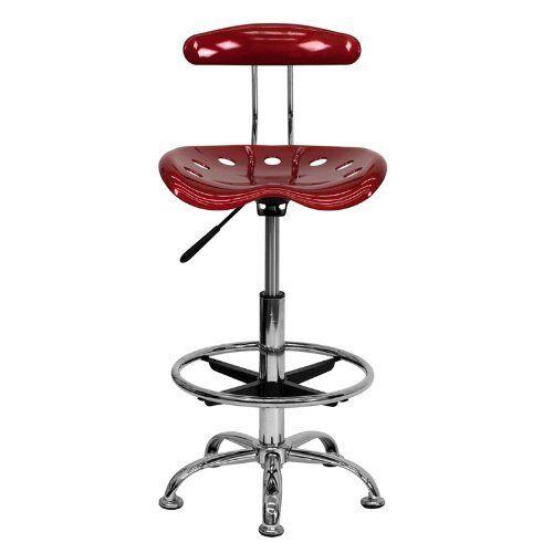 Sensational Garage Work Shop Stool Foot Rest Tractor Seat Bar Chair Bench Swivel Adjustable Short Links Chair Design For Home Short Linksinfo