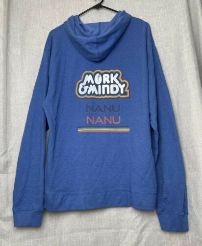 Mork And Mindy Nanu Nanu Blue Sweatshirt Size 2XL… - image 1