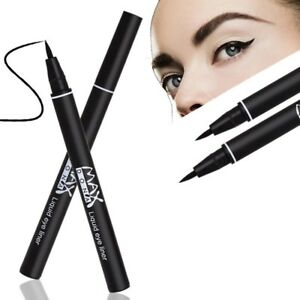 e92a67fb5 Image is loading Waterproof-Balck-Liquid-Eyeliner-Eyebrow-Pencil-With-Brush-