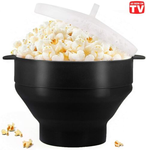 Microwave Oven Silicone Popcorn Popper Maker Bowl Collapsible
