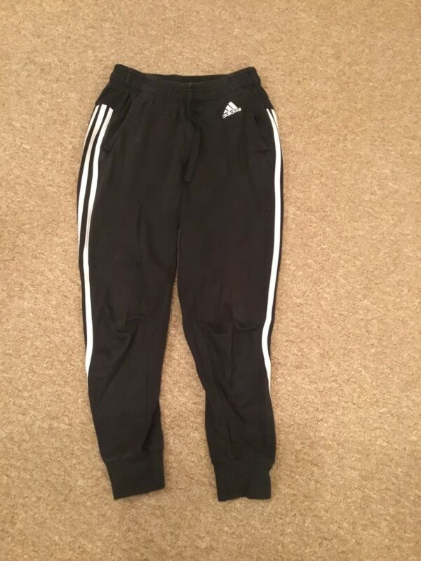 Ladies Adidas Black And White Joggers.size Xs 4-6