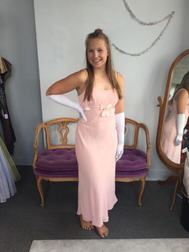 Gunne Sax Pink Formal Sleeveless Dress, Empire Wa… - image 1