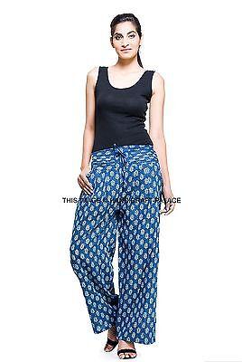 Indian Ethnic Floral Pants Women Cotton Trousers Hippie Bohemian Casual Pants