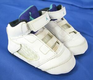Details about NIKE AIR JORDAN 5 RETRO (GP) Crib Baby Infant Shoes WHITE GRAPE PURPLE AQUA 2-C