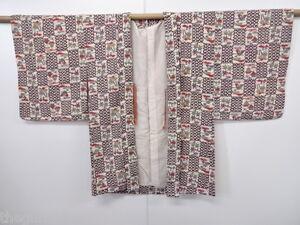 ANTIQUE / VINTAGE JAPANESE HAORI KIMONO, BEAUTIFUL CRAFT MATERIAL, JAPAN CULTURE