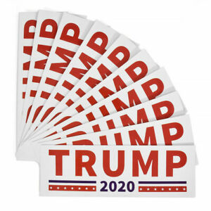 10Pc-2020-Donald-Trump-for-President-Make-America-Great-Again-Bumper-Sticker-Set