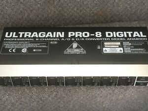 Behringer Ultragain Pro-8 Digital, used, great condition, fully functional