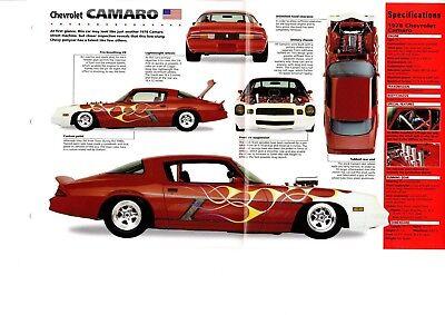 2001 Chevrolet Camaro SS SLP Engineering Two-Sided Sales Brochure Sheet Mint!