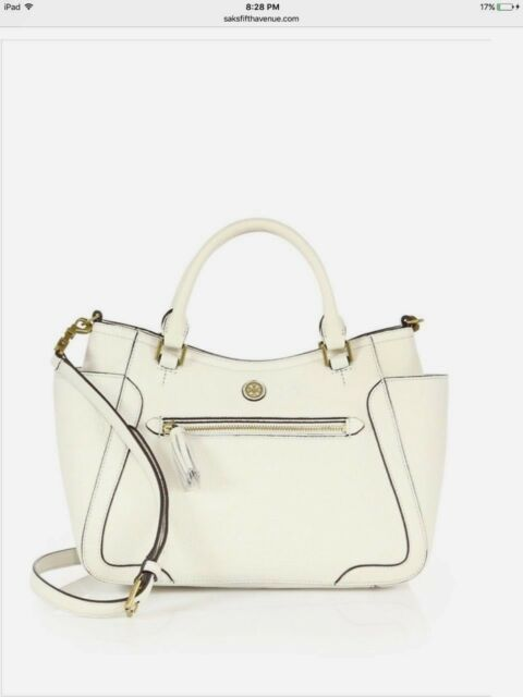 df0c5f8e0 Tory Burch Frances Small Leather Satchel Tote Shoulder Bag Ivory for ...