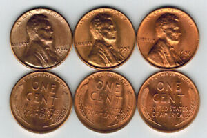Lincoln Wheat Penney One Cent 1954D /& 1954S Uncirculated US Coin
