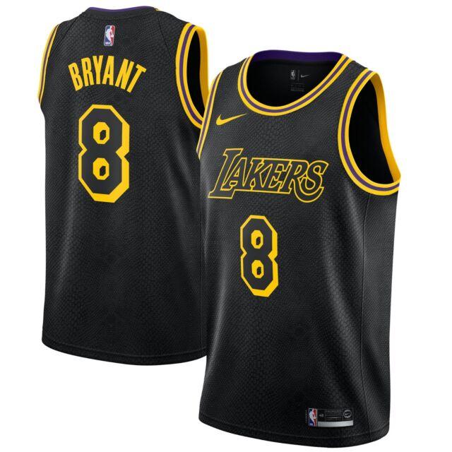 Brand New Nike NBA Los Angeles Lakers Kobe Bryant 8 City Edition Swingman Jersey