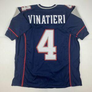 Details about New ADAM VINATIERI New England Blue Custom Stitched Football Jersey Size Mens XL