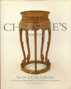 Christie S Dr Yip Collection Classical Chinese Furniture Auction Catalog Hc 2002 Ebay
