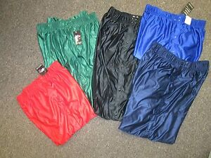 Men-039-s-Basketball-Tear-Away-warm-up-pants-XL-2XL-Red-Green-royal-Blue-NEW