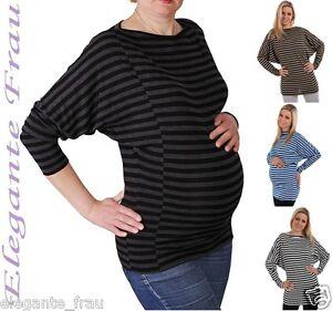 Stillshirt-Umstandsshirt-Kimono-Umstands-Shirt-Umstands-Tunika-Pullover-Streifen