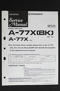 Pioneer-A-77X-BK-A-77X-Original-Stereo-Amplifier-Additional-Service-Manual-O115