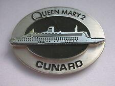 Cunard 'QUEEN MARY 2' Ocean Liner CRUISE SHIP Relief Design 3D Enamel BADGE Pin
