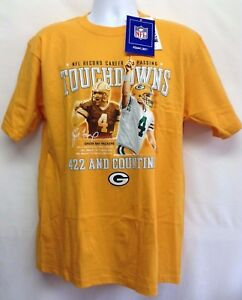 63fc5421d06 NWT NFL Men's Shirt Tee Green Bay Packers Brett Favre Touchdown Wins ...