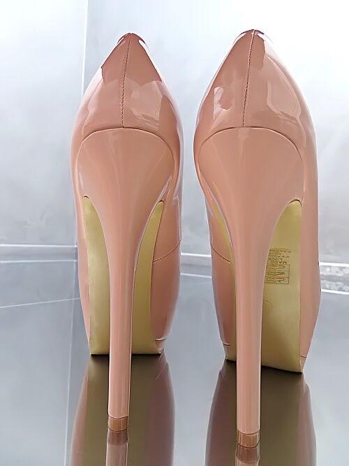 Unique Peep Color Nude Damen Sexy Stiletto High Heels L39 Peep Unique Toe Pumps Schuhe 35 871706