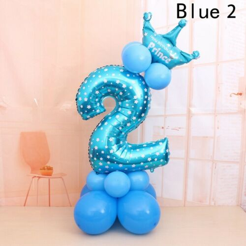 32 /'/' Anzahl Folienballon Riesen Digit Baby Shower Happy Birthday Party Deco ksy