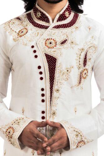Details about  /itailorman Ethnic Men Indian Design Off-White Kurta Churidar for 2pc