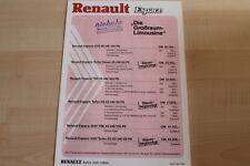 74435) Renault Espace J11 - Preise & Extras - Prospekt 04/1986