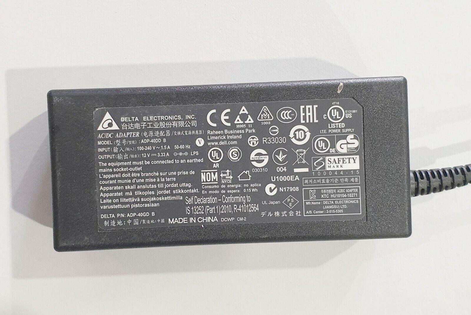 DELTA ELECTRONICS AC Adapter ADP-40DD B 12V 3.33A