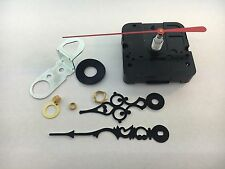 "Takane Quartz Battery Clock Movement with Hands 5/8"" Shaft fits 1/4"" Dial USA"