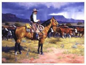 Great American Cowboy By Jack Sorenson Western, Cowboy Print 25x19