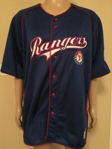 big sale ddb8e 57a18 Details about MLB Genuine Merchandise Texas Rangers Shirt Jersey True Fan  Series Men's 2XL