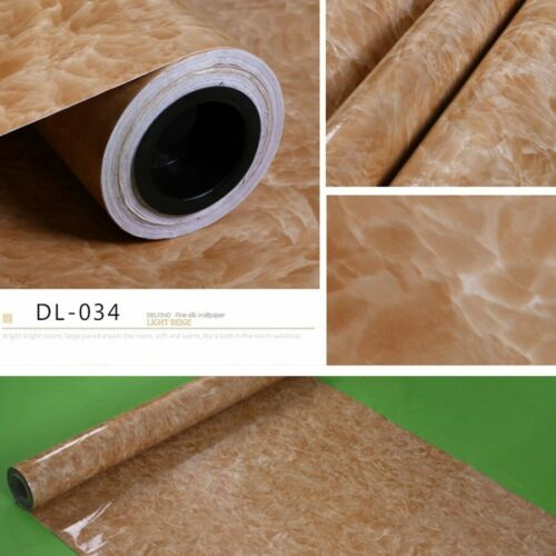 Marble Self Adhesive Wallpaper Peel/&Stick Removable Stone Wall Sticker 0.6*3M//5M
