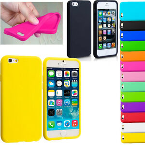 SOFT-FLEXIBLE-SILICONE-GEL-RUBBER-BACK-COVER-FOR-APPLE-IPHONE-6S-PLUS-SE-5-5c-4s