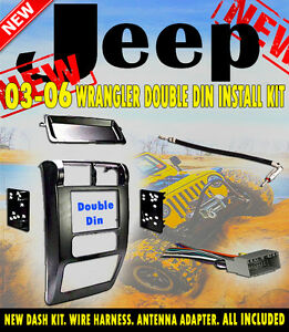 03 04 05 06 jeep wrangler tj car radio stereo installation. Black Bedroom Furniture Sets. Home Design Ideas