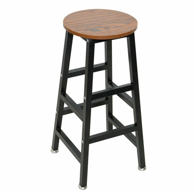 Bar Stool 2 Pack Round Seat Chair 24in