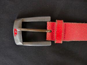 afe0844ff830d2 Das Bild wird geladen Diesel-Herren-Leder-Guertel-Gr-M-Rot-Made-