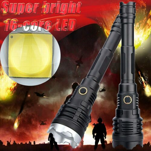 XHP110 16-Core 380000LM LED Flashlight Torch 5 Mode Spotlight 21700 Battery Set