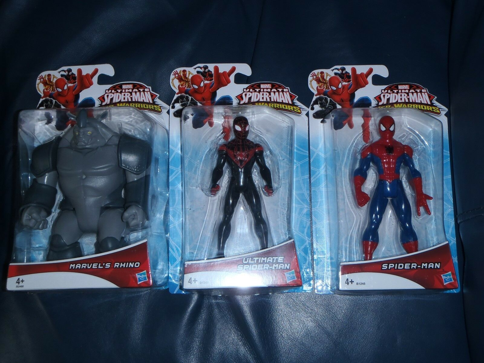 3 x WEB-GUERRIERI Ultimate Spider-Man, meraviglie Rhino + SPIDER-MAN Figure * NUOVO *