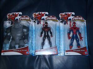 3 X Web-guerriers Ultimate Spider-man, Merveilles Rhino Spider-man Figures * nouveau *